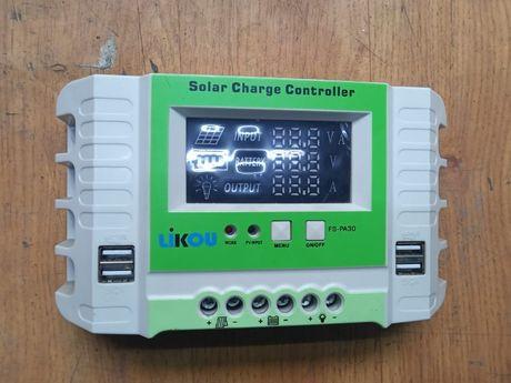 Контроллер заряда для солнечной батареи PWM 30A 12/24В