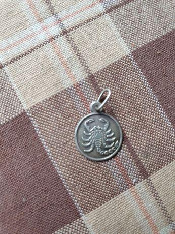 Medalion argint cu zodia Scorpion