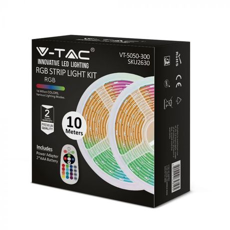 LED LED Ленти Комплект RGB 5050 30/m Невлагагозащитена 10метра