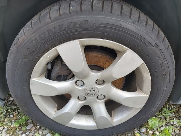 Jante Aliaj Peugeot cu anvelope Dunlop 205/55/16