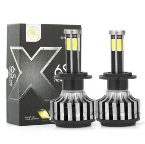 Комплект LED  крушки за фарове 60w диодни H1, H4, H7 9-32V 16000lm