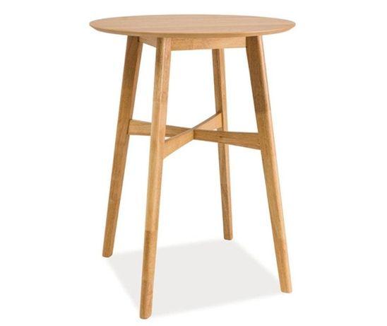 Ofertă! Masă de bar din MDF și lemn de arbore de cauciuc