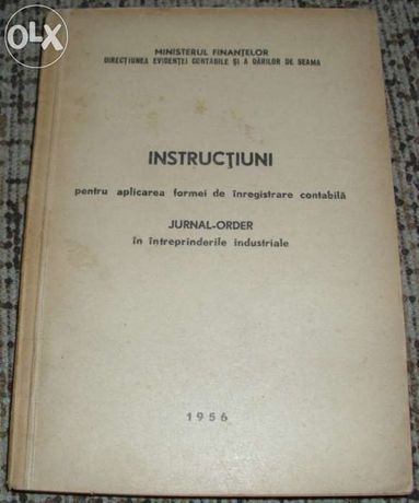 Instructiuni pentru aplicarea formei de inregistrare contabila