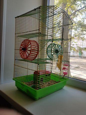 Клетка для хомяка трехэтажная