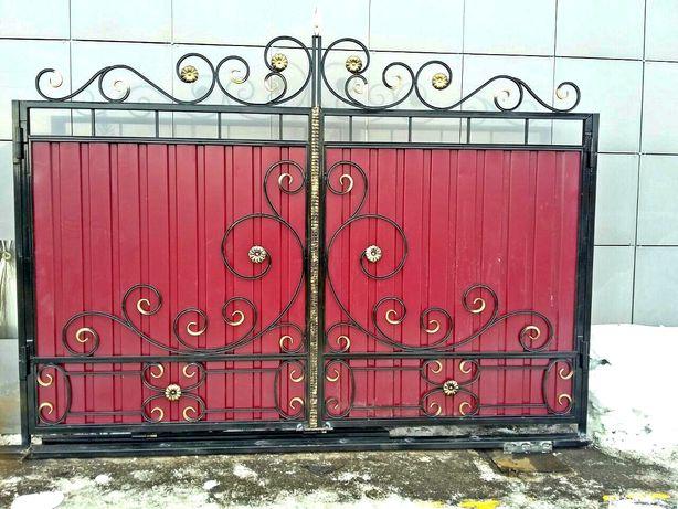 Кованые ворота на заказ любой сложности.