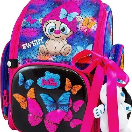 Красивый ранец, стильный рюкзак, для девочек, в школу, начальный класс