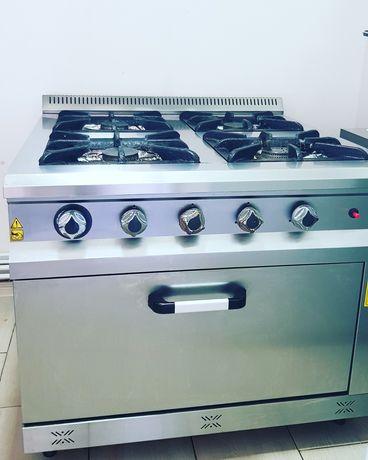 Pachet Mașina de gătit profesionala și hota cu motor inclus