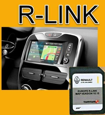 RENAULT TomTom R-LINK V10.15 SD CARD Навигация 2020 Оригинална Сд карт