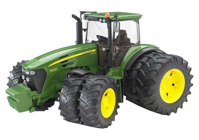 Jucarii Bruder 03052 - Tractor Bruder John Deere 7930 cu roti duble
