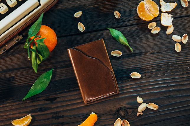 Portofel Slim din Piele Naturala. Handmade | Confectionat Manual