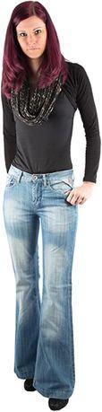 Blugi jeans dama evazati TEDDY'S SWISS DENIM Kylie 33 - 34 - noi