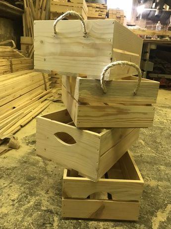 Средни декоративни дървени щайги ръчна изработка различни модели