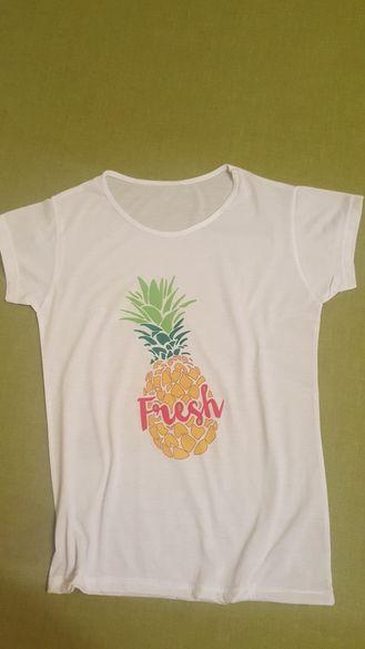 Тениска цветен Ананас