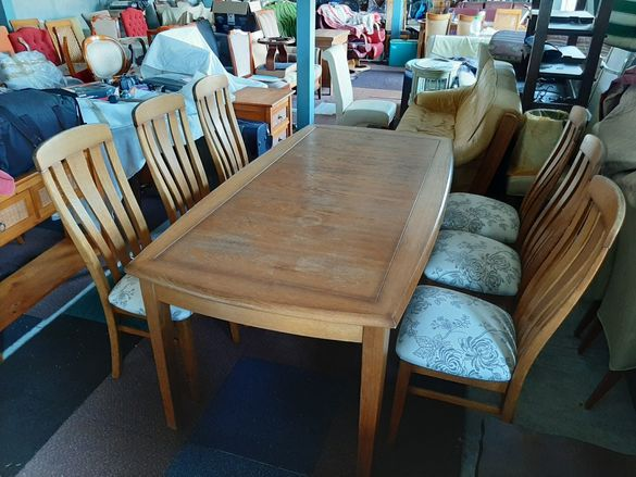 Маса+6 стола масив внос от Холандия