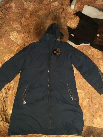 Куртка,на 9-10 лет воротник натуральный,турецкий