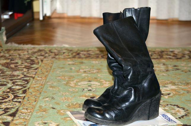 Vand cizme dama, negre, piele, imblanite, marimea 37