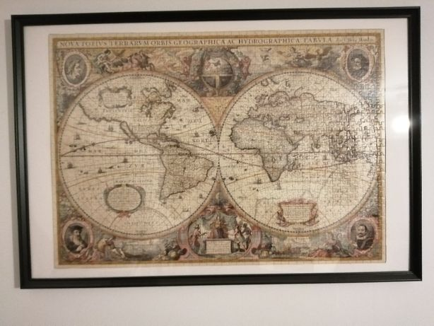 Tablou puzzle harta lumii