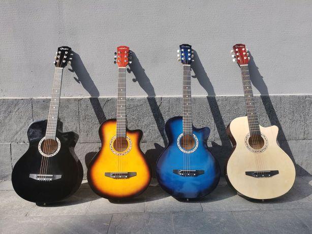 Акустическая гитара высокого качества по низкой цене! Чехол в подарок.