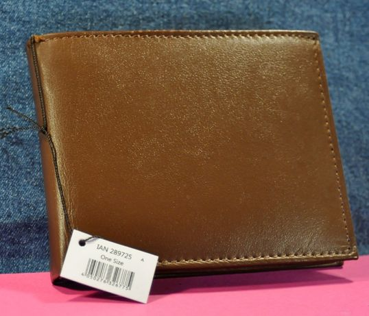"""""""Livergy"""" Mens Brown Real Leather Wallet"""