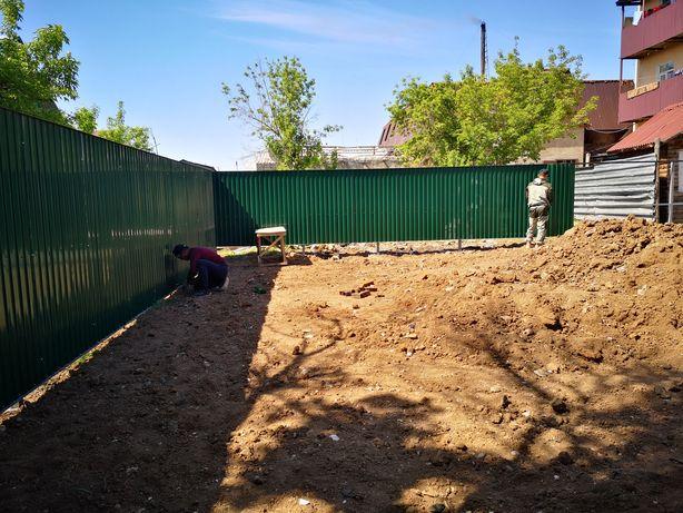 Забор,  изготовим заборы из профнастила ворота калитка
