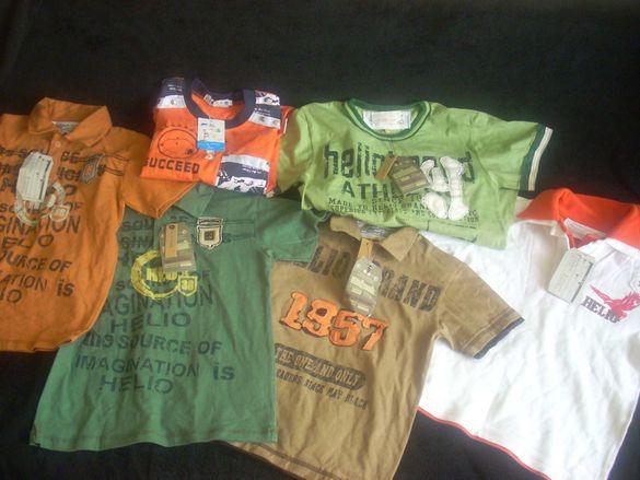 6 детски НОВИ тениски за 12 лв.  (3-6 год. възраст)