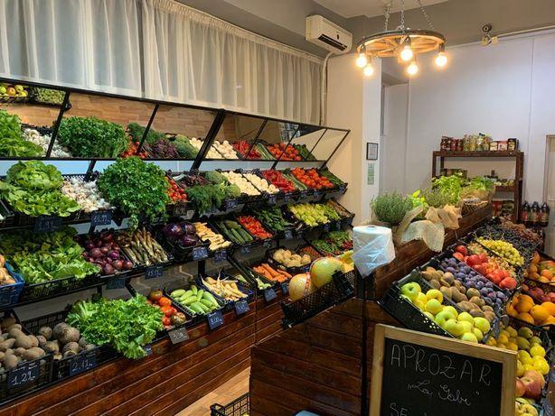 Rafturi legume si fructe cu oglinzi