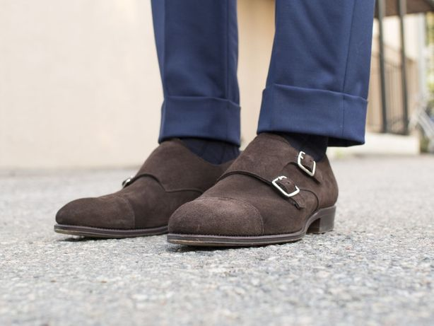 Pantofi monk Minelli 45 piele naturala