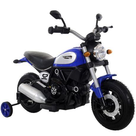 Motocicleta electrica pentru copii BT307 2x20W CU ROTI MOI #Albastru
