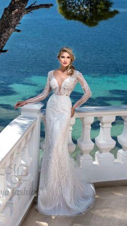 Rochie mireasa Maya Fashion cu trena detasabila+ voal 3 metri