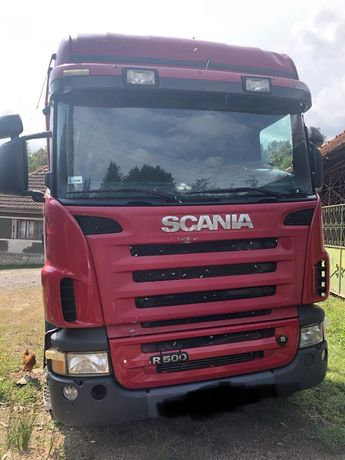 Vând camion forestier Scania