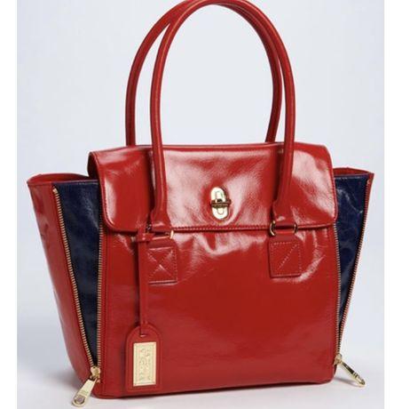Badgley mischka естествена кожа чанта