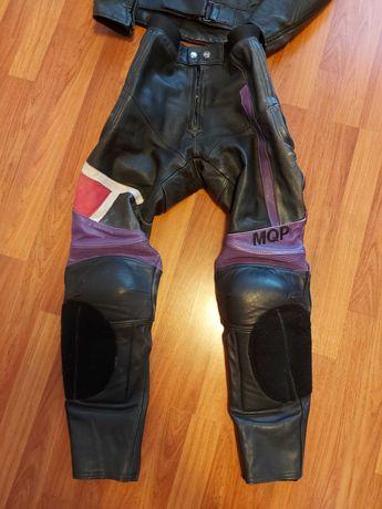 Pantalon moto piele