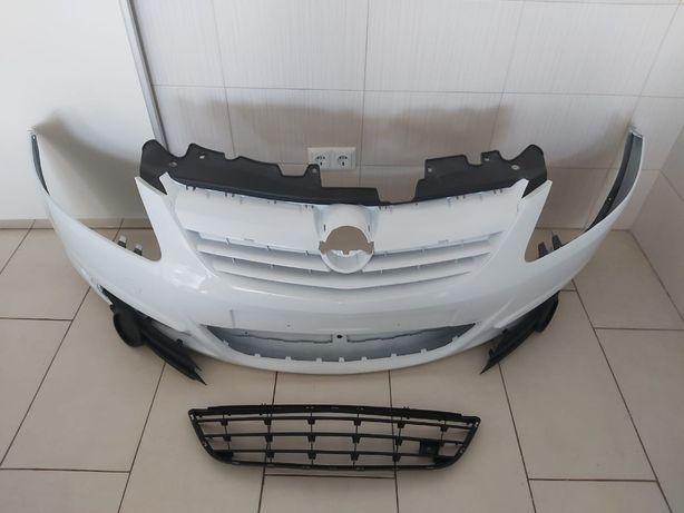 Pachet Bara Fata+Toate Grilele Opel Corsa D 2006-2011 (Z474-Alb) Full
