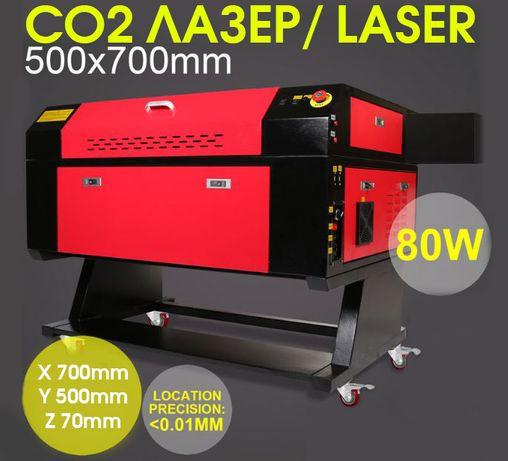 НАЛИЧЕН! Лазер Co2 80W Laser за рязане и гравиране