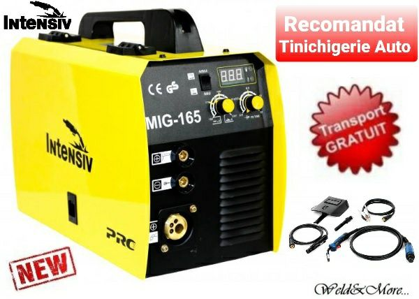 Intensiv MIG 165-Aparat de sudura multiproces MIG-MAG/MMA ,Gas/No Gas