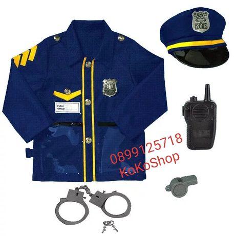 Детска полицейска униформа с аксесоари/Полицейска униформа за деца
