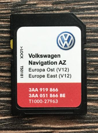 НОВО 2020гд Сд Карта RNS 315 EAST Europe V12 SD card RNS315 SEAT SKODA