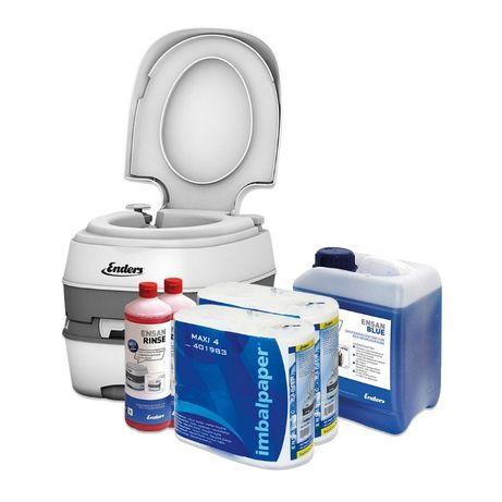 Къмпинг пакет химическа тоалетна и препарати BLUE XL COMFORT