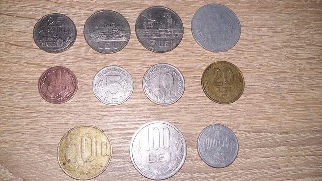 Lot monede româneşti 1966-1995 - 70 lei