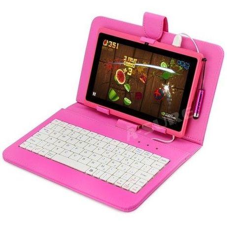 Розов таблет +клавиатура подарък 4-ядрен с 1GB RAM