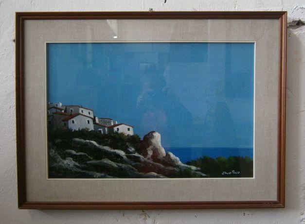 Pictura semnata ENOTRIO PUGLIESE (Painting/ Tablou/Lucrare de arta)
