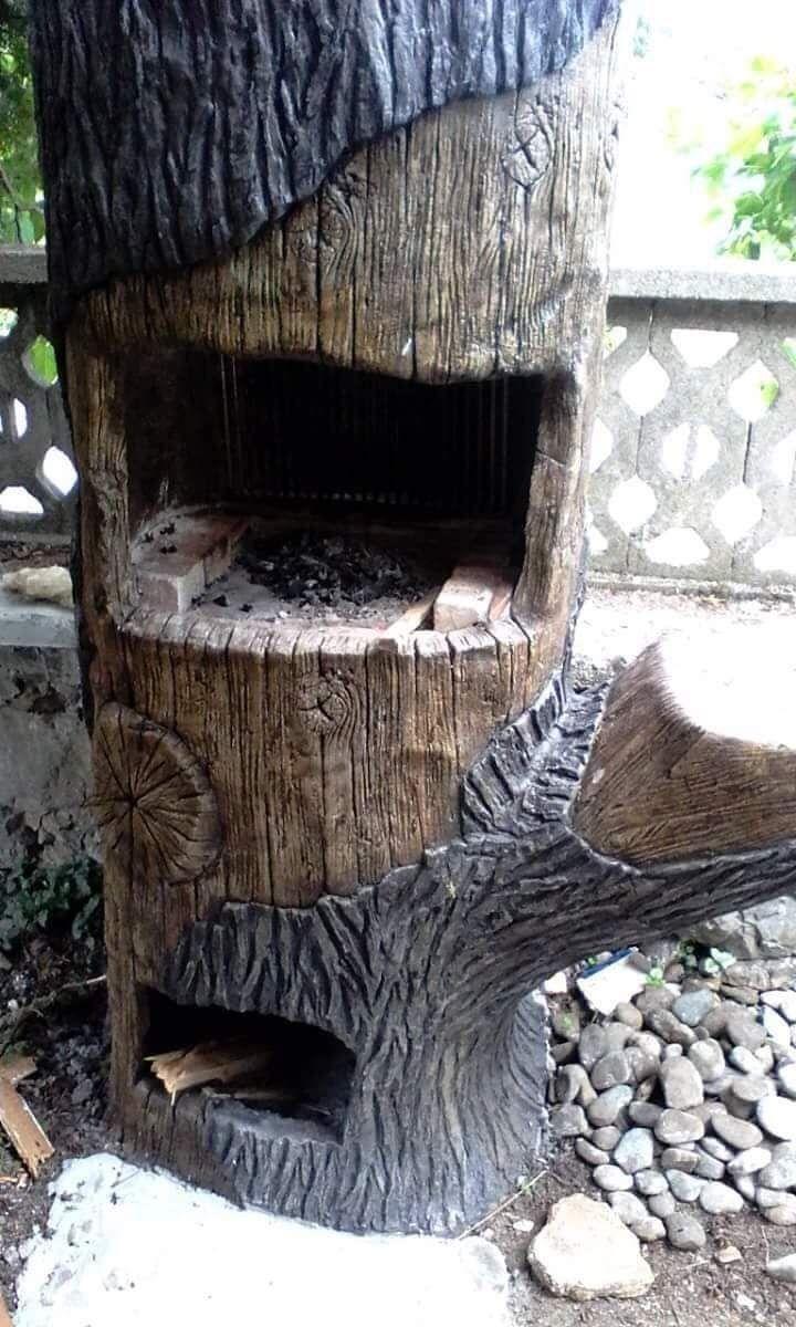 Градински мивки имитиращи дърво