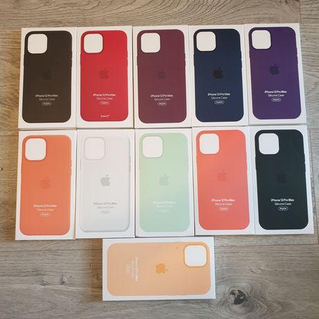 Husa iphone 12 Pro Max silicon ORIGINALA Culori Noi