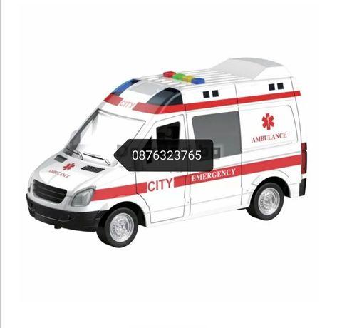 Детска линейка кола със звук и светлина играчки играчка