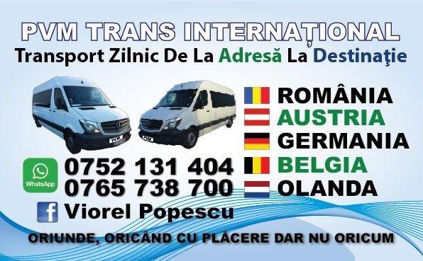 Transport Zilnic Slatina Austria Germania La Adeesă 69