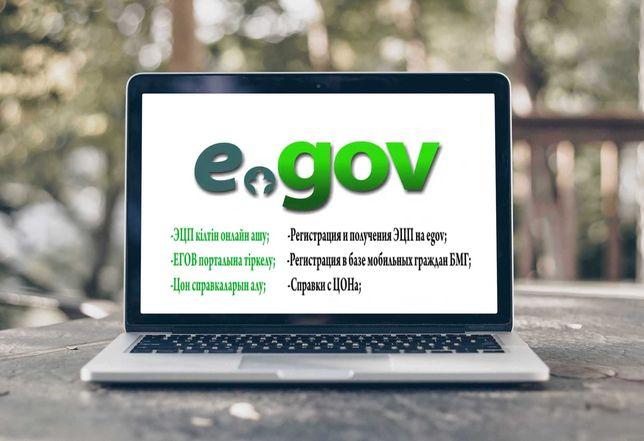 Услуги egov, ЦОН, справки, отчеты, БМГ получения ЭЦП для физ. юр лиц