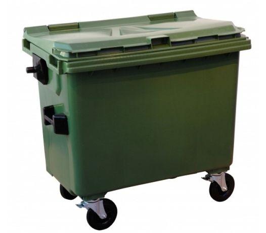 Tomberon Gunoi HDPE cu capac plat 660 litri, Tomberoane din Plastic
