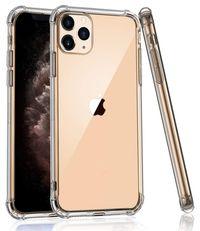 Силиконов ANTI-KNOCK прозрачен кейс iPhone 12, 11, 11 Pro, 11 Pro Max,