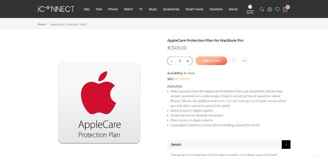 AppleCare Protection Plan for MacBook Pro 15 Mf218zm/a