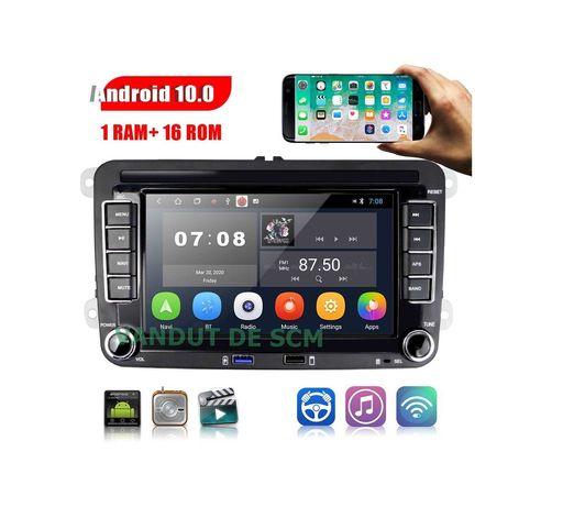 Navigație Android 10, 1/16GB VW Passat B6 B7 Golf 5 6 Octavia 2
